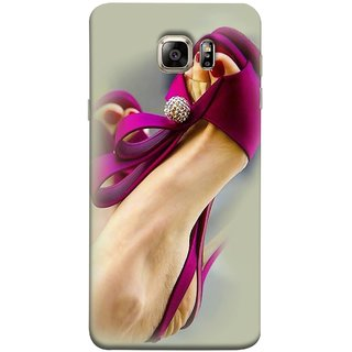 FUSON Designer Back Case Cover for Samsung Galaxy S6 Edge :: Samsung Galaxy S6 Edge G925 :: Samsung Galaxy S6 Edge G925I G9250  G925A G925F G925Fq G925K G925L  G925S G925T (Nice Shoes Design Red Nailpolish Womens Girls Females )