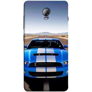 FUSON Designer Back Case Cover for Lenovo Vibe P1 :: Lenovo Vibe P1 Turbo :: Lenovo Vibe P1 Pro ( Road Shelby Mustang Engine Shelby Beautiful Blue)