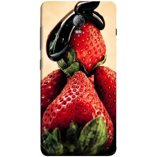 FUSON Designer Back Case Cover for Lenovo Vibe P1 :: Lenovo Vibe P1 Turbo :: Lenovo Vibe P1 Pro (Best Fresh Strawberry Sweet Dish Homemade Recipes)