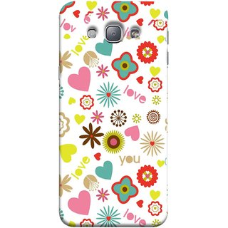 FUSON Designer Back Case Cover for Samsung Galaxy A8 (2015) :: Samsung Galaxy A8 Duos (2015) :: Samsung Galaxy A8 A800F A800Y (Love You Pink Yellow Hearts Snow Red Flowers Garden )