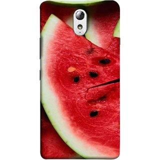 FUSON Designer Back Case Cover for Lenovo Vibe P1M :: Vibe P1m (Watermelon Slice Pattern Of Ripe Dark Red Tasty Food)