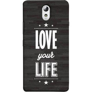 FUSON Designer Back Case Cover for Lenovo Vibe P1M :: Vibe P1m (Always Love Your Life Fullest For Family )