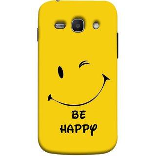 FUSON Designer Back Case Cover for Samsung Galaxy Ace 3 :: Samsung Galaxy Ace 3 S7272 Duos  :: Samsung Galaxy Ace 3 3G S7270 :: Samsung Galaxy Ace 3 Lte S7275 (Yellow Background Cute Smiling Smiley Big Smile)