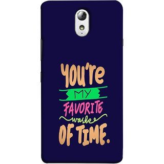 FUSON Designer Back Case Cover for Lenovo Vibe P1M :: Vibe P1m (Blue Background Best Friends Always Together)