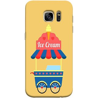 FUSON Designer Back Case Cover for Samsung Galaxy S7 :: Samsung Galaxy S7 Duos :: Samsung Galaxy S7 G930F G930 G930Fd (Ice Cone Pineapple Flavour Wheels Hearts Shade )