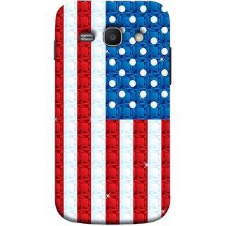 FUSON Designer Back Case Cover for Samsung Galaxy Ace 3 :: Samsung Galaxy Ace 3 S7272 Duos  :: Samsung Galaxy Ace 3 3G S7270 :: Samsung Galaxy Ace 3 Lte S7275 (United Stated Of America Flag Embroidered Stars)