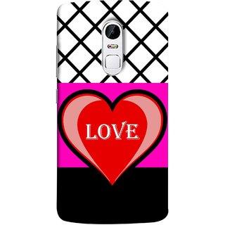 FUSON Designer Back Case Cover for Lenovo Vibe X3 (Pink Red Wallpapers Flowers Lovers Boyfriends Black)