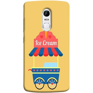 FUSON Designer Back Case Cover for Lenovo Vibe X3 (Ice Cone Pineapple Flavour Wheels Hearts Shade )