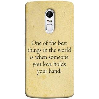 FUSON Designer Back Case Cover for Lenovo Vibe X3 (Someone You Love Holds Your Hands Forever Together)