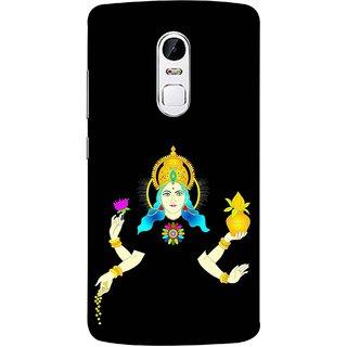 FUSON Designer Back Case Cover for Lenovo Vibe X3 (Laxmi Kamal Lotus Gold Crown Mukut Kalash)