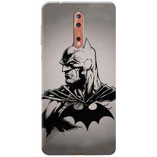 Nokia 8 Black Hard Printed Case Cover by HACHI - Batman Fans design