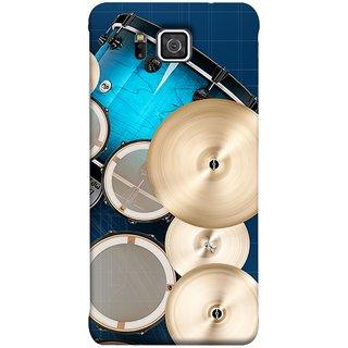 FUSON Designer Back Case Cover for Samsung Galaxy Alpha :: Samsung Galaxy Alpha S801 ::  Samsung Galaxy Alpha G850F G850T G850M G850Fq G850Y G850A G850W G8508S :: Samsung Galaxy Alfa (Drum Set Musical Instrument Four Piece Shell Pack)