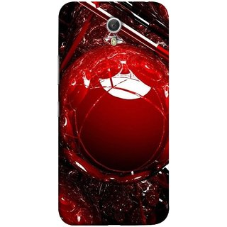 FUSON Designer Back Case Cover for Lenovo ZUK Z1 (Bold Red Design 3D Rendering Of Modern Abstract)