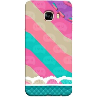 FUSON Designer Back Case Cover for Samsung Galaxy C7 SM-C7000 (Paper Sheet Design Perfect Back Cover Saree Suits Women Girls )