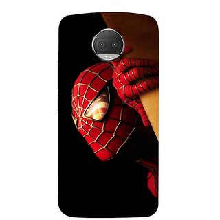 Motorola Moto G5S Plus Black Hard Printed Case Cover by HACHI - Spiderman Fans design