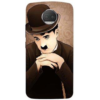 Motorola Moto G5S Plus Black Hard Printed Case Cover by HACHI - Charlie Chaplin Fans design
