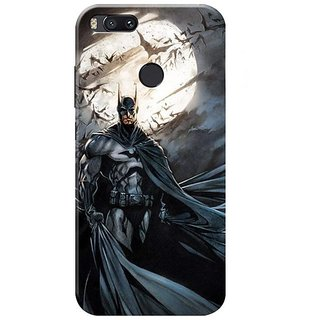 Redmi A1 Black Hard Printed Case Cover by HACHI - Batman Fans design