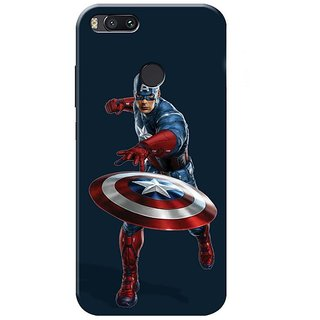 Redmi A1 Black Hard Printed Case Cover by HACHI - Captain America Fans design