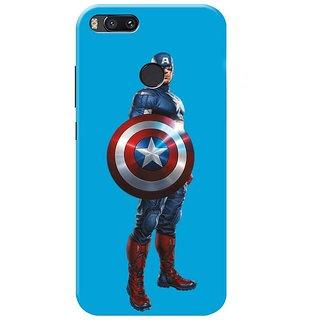 Redmi A1 Black Hard Printed Case Cover by HACHI - Captain America Fans design