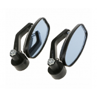 Bikers World MOTORCYCLE BLACK 7/8 HANDLEBAR END REAR VIEW SIDE MIRROR FOR ALL BIKES