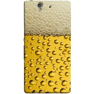 FUSON Designer Back Case Cover For Sony Xperia Z :: Sony Xperia ZC6603 :: Sony Xperia Z L36h C6602 :: Sony Xperia Z LTE, Sony Xperia Z HSPA+ (Party Friendship Yaro Ki Mahfil Cold Chilled Beer Glass )