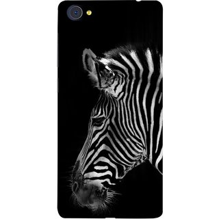 FUSON Designer Back Case Cover For Vivo X7 Plus (Close Up Portrait Of A Baby Zebra Long Ears Strips)