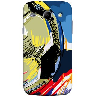 FUSON Designer Back Case Cover for Samsung Galaxy Core I8260 :: Samsung Galaxy Core Duos I8262 (Curved Straignt Acrylic Texture Lines Oil Paint Bright)