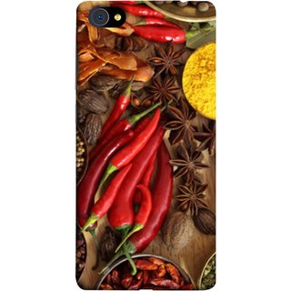 FUSON Designer Back Case Cover For Vivo X5Pro :: Vivo X5 Pro (Set Of Indian Spices On Wooden Table Powder Spices)