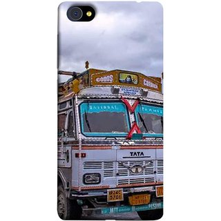 FUSON Designer Back Case Cover For Vivo X7 Plus (Decorated Goods Carrier On Mountain Road In The Himalayas )
