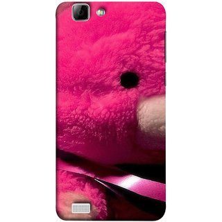 FUSON Designer Back Case Cover For Vivo X3S (Best Gift For Valentine Friends Lovers Couples Baby Pink Red )
