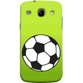 FUSON Designer Back Case Cover for Samsung Galaxy Core I8260 :: Samsung Galaxy Core Duos I8262 (Football Ground Ball Black White Fifa League )