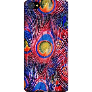 FUSON Designer Back Case Cover For Vivo X5Pro :: Vivo X5 Pro (Nice Colourful Long Peacock Feathers Beak)