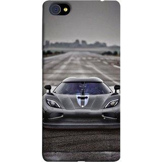FUSON Designer Back Case Cover For Vivo X5Pro :: Vivo X5 Pro (Road Black White Clouds Beautiful Road Blue Side Mirror)
