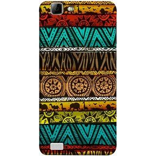 FUSON Designer Back Case Cover For Vivo X3S (Patterns Horizontal Stripes Bedsheet Design Cloths)