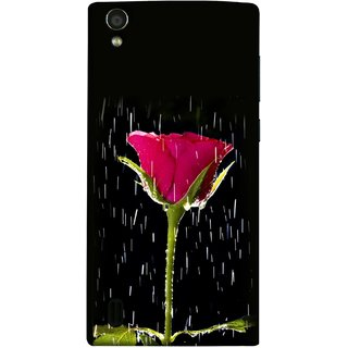 FUSON Designer Back Case Cover For Vivo Y15S :: Vivo Y15 (Red Rose Love Pink Water Raining Flowers )