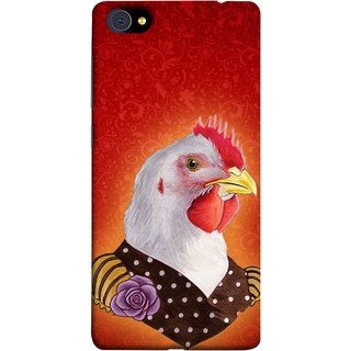 FUSON Designer Back Case Cover For Vivo X5Pro :: Vivo X5 Pro (Young Chicken Portrait Funny Acting Isolated Illustration)