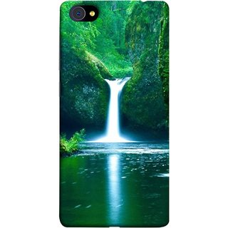 FUSON Designer Back Case Cover For Vivo X5Pro :: Vivo X5 Pro (Mountains & Waterfalls Images Green Lake Desktop)