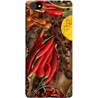 FUSON Designer Back Case Cover For Vivo X7 Plus (Set Of Indian Spices On Wooden Table Powder Spices)