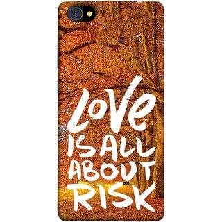 FUSON Designer Back Case Cover For Vivo X7 Plus (Trees Prem Pyar To Badi Risk Hai Very Dangerous )