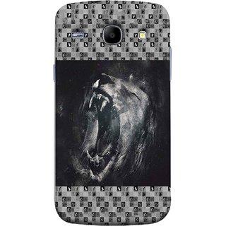 FUSON Designer Back Case Cover for Samsung Galaxy Core I8260 :: Samsung Galaxy Core Duos I8262 (Grey Canvas Wallpaper Grey Background Leopards)