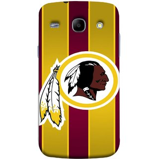 FUSON Designer Back Case Cover for Samsung Galaxy Core I8260 :: Samsung Galaxy Core Duos I8262 (Yellow Circles White Yellow And Maroon Vertical)