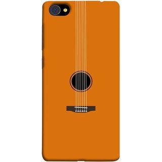 FUSON Designer Back Case Cover For Vivo X7 Plus (Musical Instrument Vintage Bass Music Lovers Play)