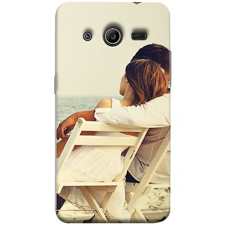 FUSON Designer Back Case Cover for Samsung Galaxy Core 2 G355H :: Samsung Galaxy Core Ii :: Samsung Galaxy Core 2 Dual (Beautiful Husband Wife Lovers Valentines Sitting Sea Shore)