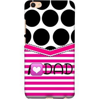 FUSON Designer Back Case Cover For Vivo Y55L :: Vivo Y55 (Pink Design Paper Big Black Circles Bubbles )