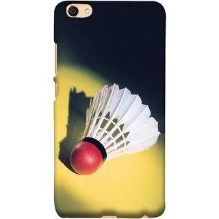 FUSON Designer Back Case Cover For Vivo Y55L :: Vivo Y55 (Isolated On Light Yellow Game Gold Match Winner Loser )