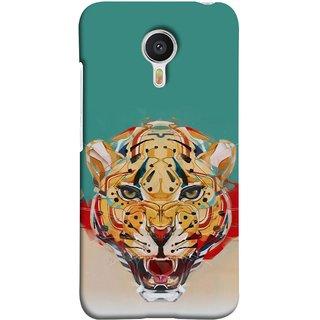 FUSON Designer Back Case Cover For YU Yunicorn :: YU Yunicorn YU5530 (Multicolour Tigers Leopard Perfect Look King Night Tree)