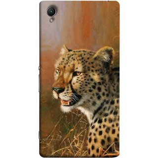FUSON Designer Back Case Cover For Sony Xperia Z1 :: Sony Xperia Z1 L39h :: Sony Xperia Z1 C6902/L39h :: Sony Xperia Z1 C6903 :: Sony Xperia Z1 C6906 :: Sony Xperia Z1 C6943  (Jungle King Stearing Angry Roaring Loud Aslan Panther)
