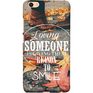 FUSON Designer Back Case Cover For Vivo Y55L :: Vivo Y55 (Lovely Bottom Of My Heart Smile Happy Key )