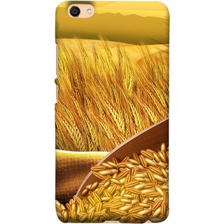 FUSON Designer Back Case Cover For Vivo Y55L :: Vivo Y55 (Wheat Farmers Farms Morning Sunlight Bright Day)