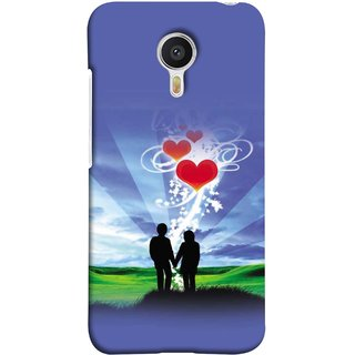 FUSON Designer Back Case Cover For YU Yunicorn :: YU Yunicorn YU5530 (Couple Enjoying Beautiful Sunrise Red Hearts Sunshine)